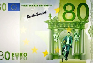 Usb conia il 'renzino', banconota da 80 euro: «Fasulla come promesse di Renzi»