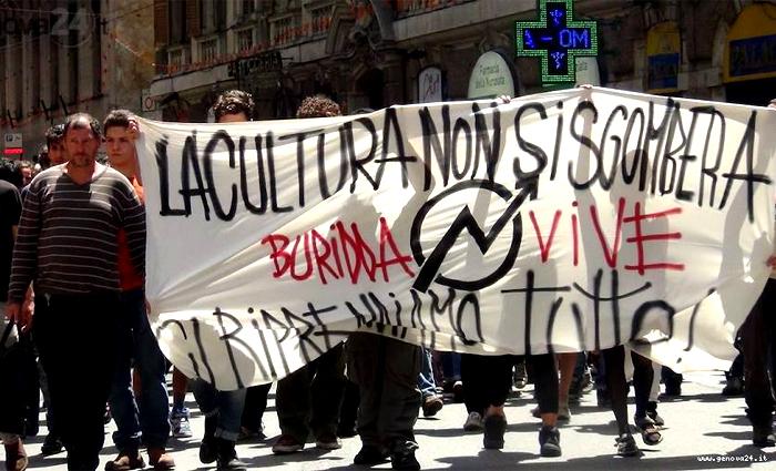 Genova: la Digos sgombera il Buridda