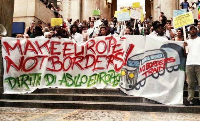 Diritto d'asilo, il #NoBordersTrain sconfina in Svizzera