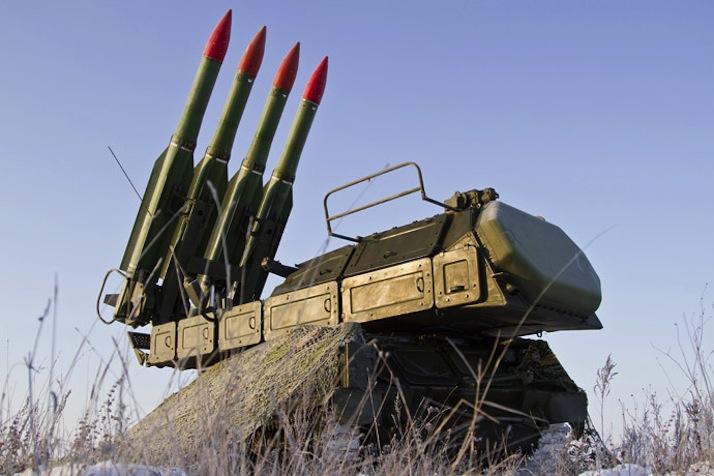 Una batteria Buk-m1 Sam, in grado di lanciare missili SA-11, indicati come responsabili dell'abbattimento dell'aereo.