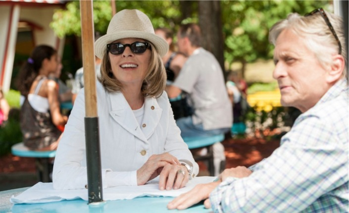 Diane Keaton e Michael Douglas mai così vicini