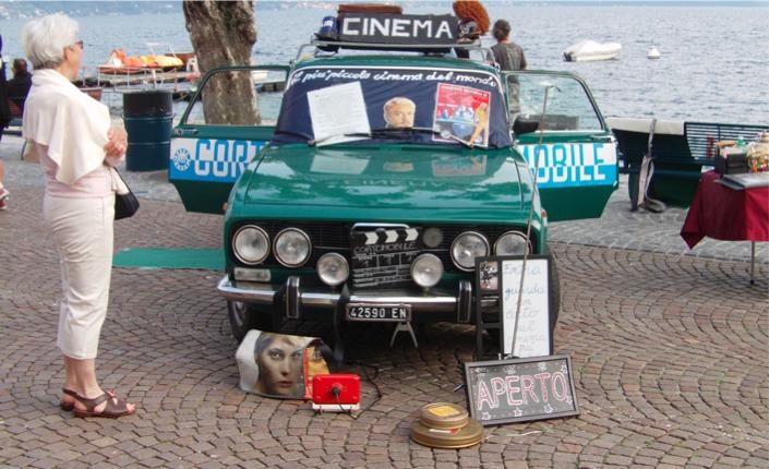 Il cinema si fa corto e mobile in un'Alfa Romeo del 1974