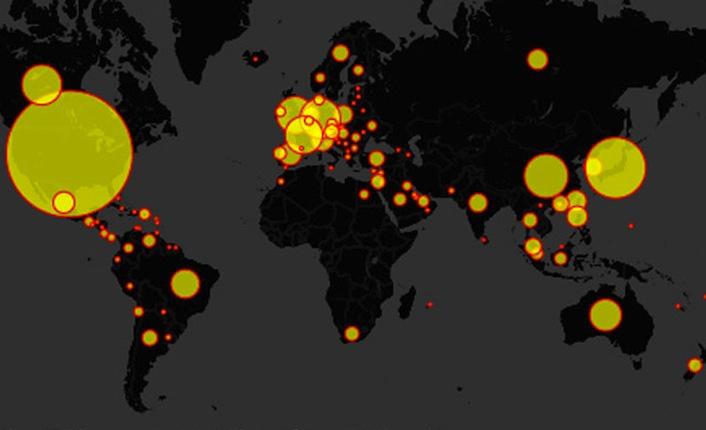 La diffusione dei ristoranti McDonald's nel mondo.