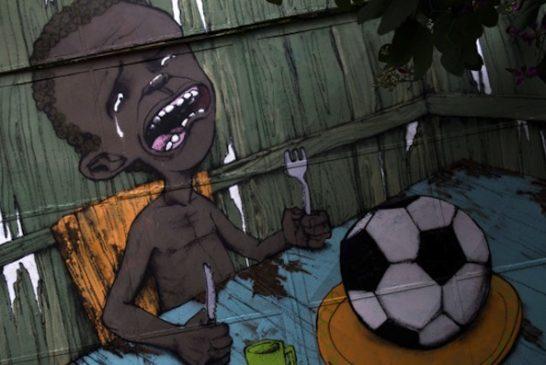 Graffiti painted by Brazilian street artist