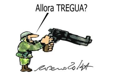 Mogherini, i cardinali e la tregua, l'umorismo graffiante di Tiziano Riverso