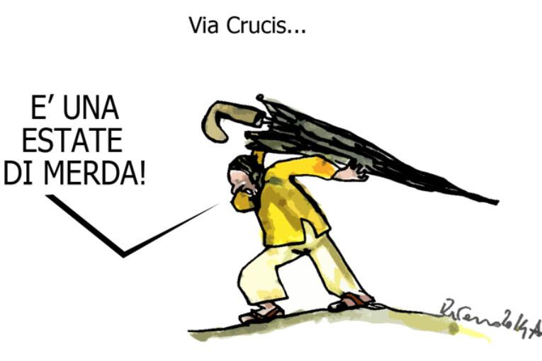L'Alitalia, i muri e la Concordia, l'umorismo graffiante di Tiziano Riverso