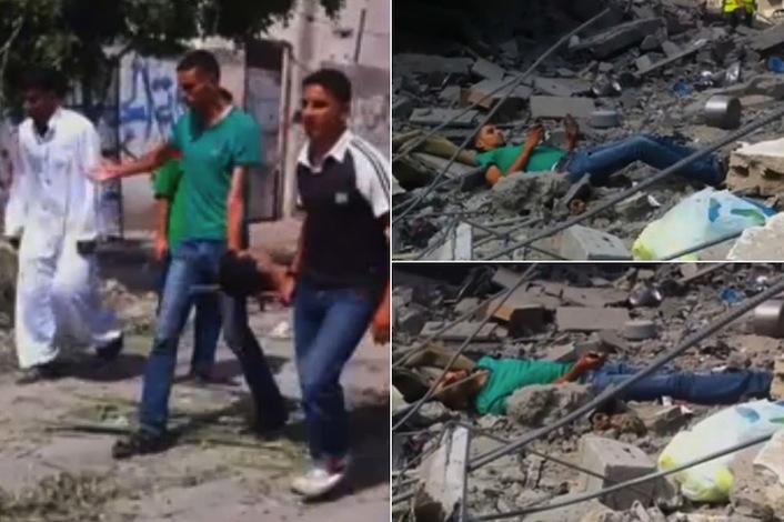 La sequenza della morte del ragazzo palestinese. Mentre cerca i suoi familiari. Dopo che è stato centrato dal primo proiettile. Quando giace morto dopo essere stato colpito per la terza volta.