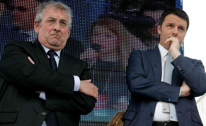 Ernesto Magorno, segretario regionale Pd Calabria e il premier Matteo Renzi