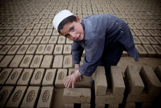 Children Work In Kabul Brick Factory