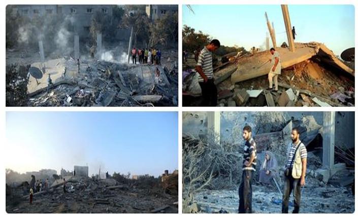 Alcune conseguenze dei bombardamenti israeliani della notte scorsa