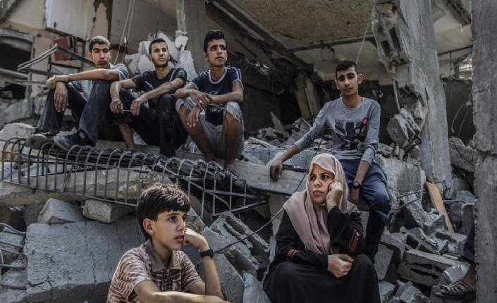 tra le macerie di Gaza