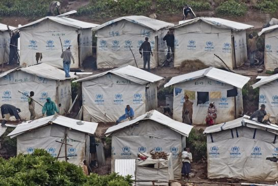 Congolese refugees in Kigeme camp