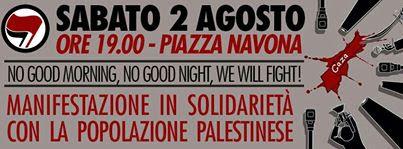 2 ago manifetazione palestina roma