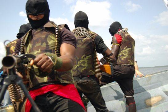 A Nigerian separatist militant levels hi