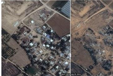 Gaza prima e dopo le bombe vista dal satellite