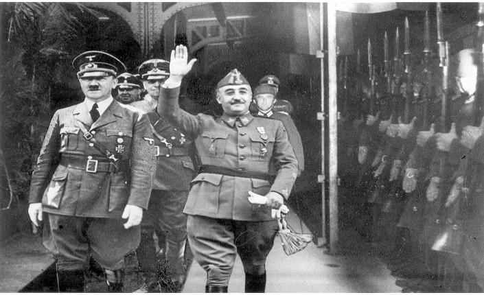 Adolf Hitler e Francisco Franco a Hendaia, il 23 ottobre 1940
