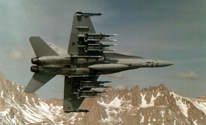 Esemplare di  cacciabombardiere F/A-18 Hornet