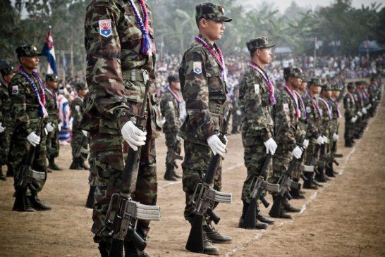 KNLA soldiers in Karen State, Burma