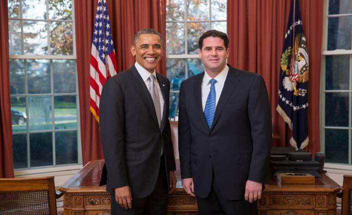 Barak Obama e l'ambasciatore israeliano Ron Dermer