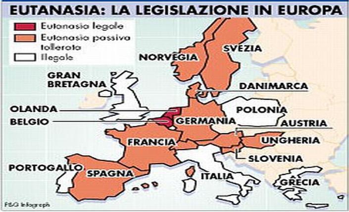 Mappa eutanasia Europa