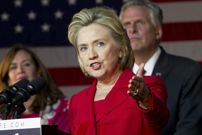 L'ex segretario di Stato Usa Hillary Rodham Clinton.