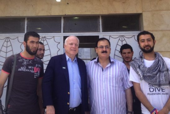 McCain visits rebels in Syria