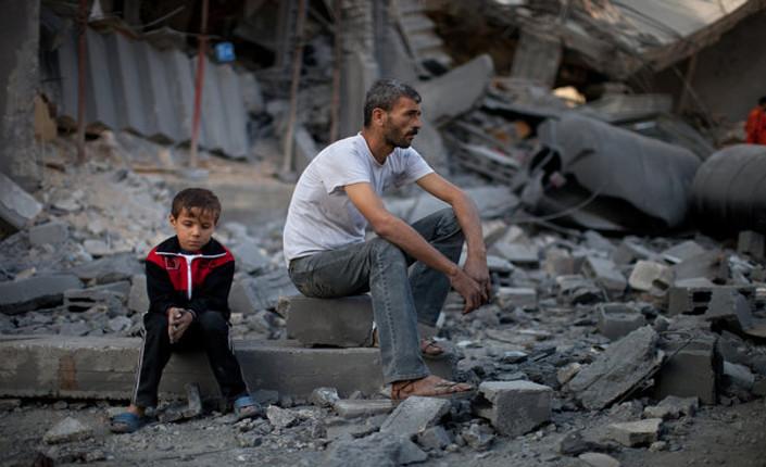 Gaza padre e figlio