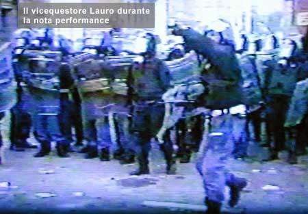 Piovono pietre, Lauro da Piazza Alimonda all'Olimpico