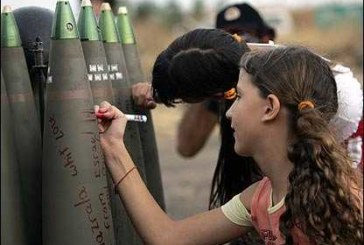 «Bimbo israeliano, a chi spareresti per primo?»