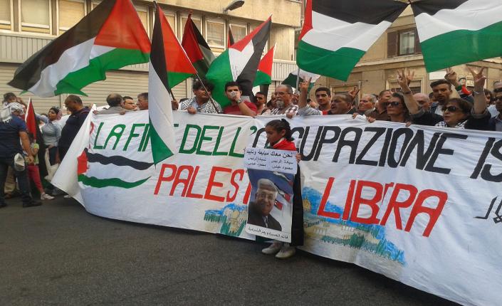 Manifestazione Palestina 27 settembre 2014
