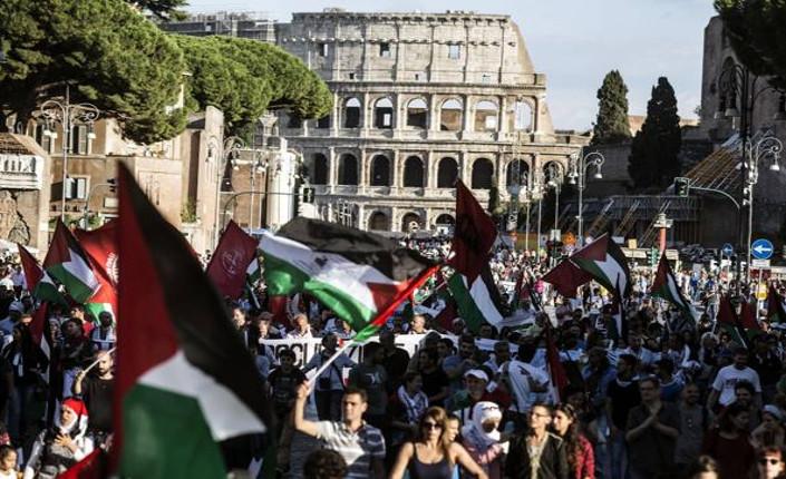 Manifestazione pro Palestina, Roma 27 settembre 2014