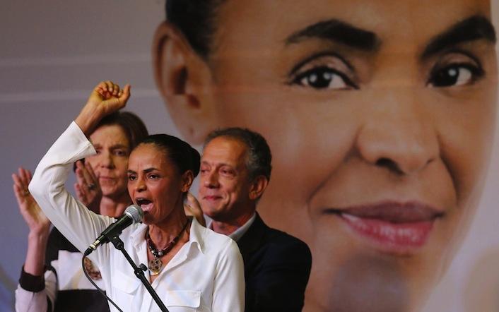 La candidata dei Verdi Marina Silva. Se sarà lei il prossimo presidente del Brasile si romperà l'asse dei Brics contro gli Usa.