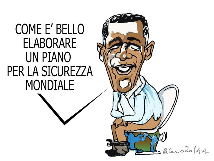 Obama, Salvini e la scuola, l'umorismo graffiante di Tiziano Riverso