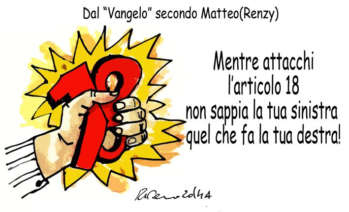 I topi, Renzi e i cardinali, l'umorismo graffiante di Tiziano Riverso