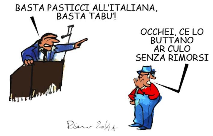 De Magistris, Biancaneve e i tabù, l'umorismo graffiante di Tiziano Riverso