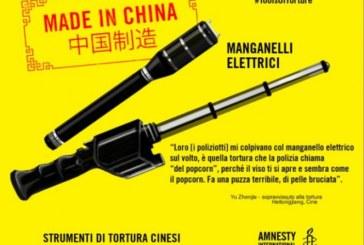 Cina, boom del commercio di strumenti di tortura