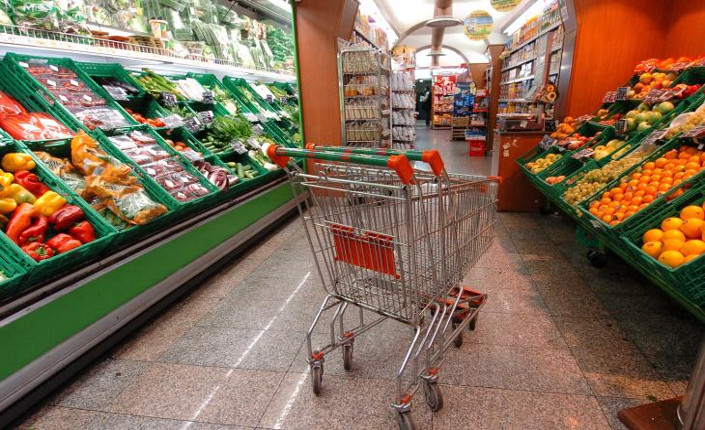 deflazione italia carrello spesa vuoto