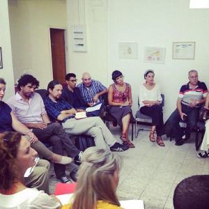 La delegazione in riunione con alcune associazioni pacifiste isrealiane
