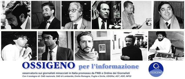 Un pannello con i ritratti di giornalisti uccisi dalla criminalità.