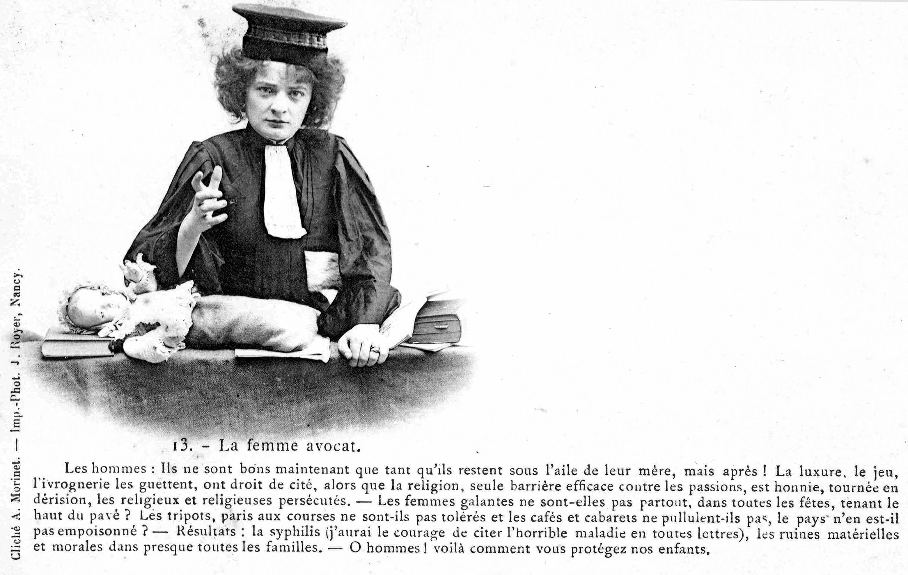La prima donna avvocato, quando l'immagine ci racconta il conflitto di genere