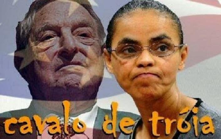 La leader del Partito socialista Marina Silva e il suo sponsor internazionale, il finanziere George Soros.
