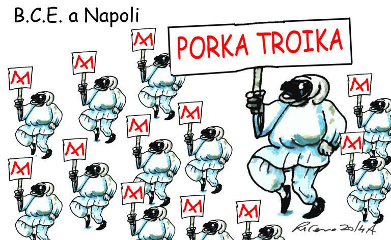 Napoli, Hong Kong e l'asino Renzi, l'umorismo graffiante di Tiziano Riverso