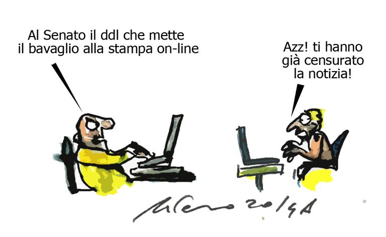 Renzi, Genova e la censura, l'umorismo graffiante di Tiziano Riverso