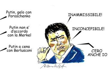 Landini, Superman e la brace, l'umorismo graffiante di Tiziano Riverso