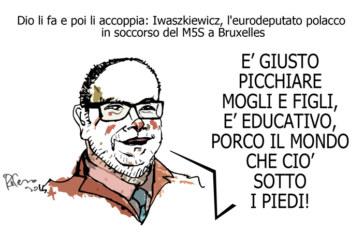 Gasparri, il cesso e Casa… Leggio, l'umorismo graffiante di Tiziano Riverso