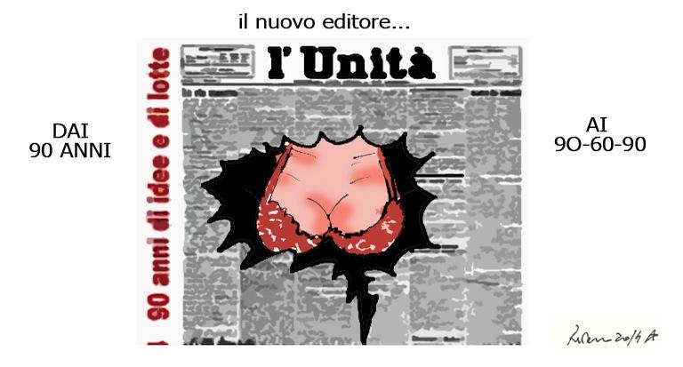 L'Unità, le tette e il petrolio, l'umorismo graffiante di Tiziano Riverso