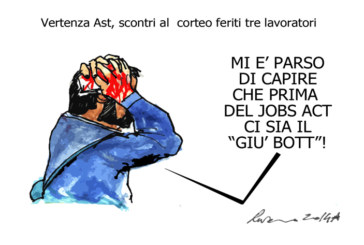 Le botte, lo Stretto e l'unto del Pd, l'umorismo graffiante di Tiziano Riverso