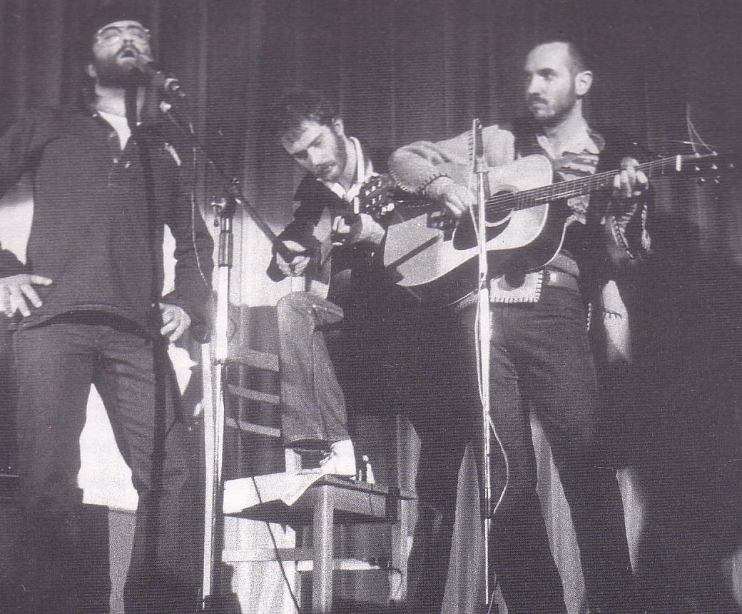 Renzo Zenobi al Folkstudio negli anni '70, con De Gregori e Dalla