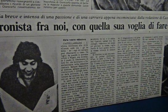 Un articolo dell'epoca che ricorda la vita breve di Giancarlo Siani