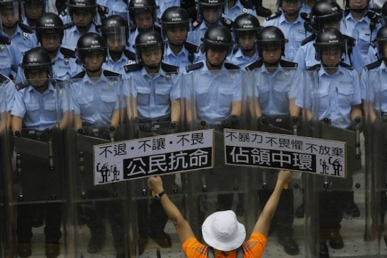 china-hong-kong-tiananmen-crackdown-tear-gas-violence-peaceful-demonstration-protest-universal-suffrage-occupy-central